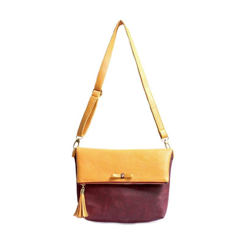 Ceviro Avantin Sling Bags Yellow RedWine