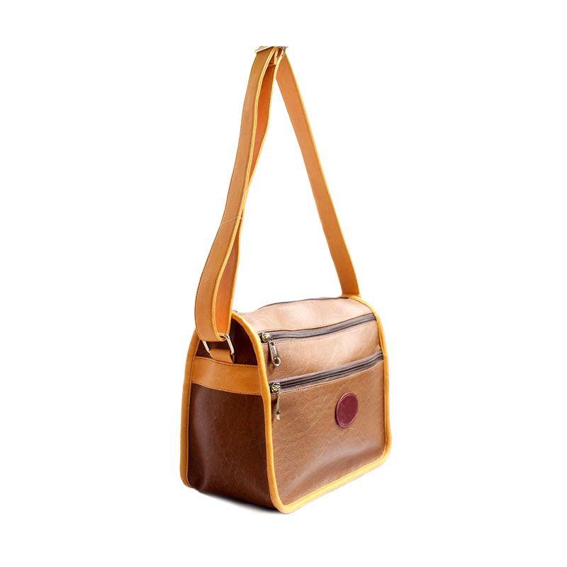 Ceviro Cin-Cinati Brown Stone Sling Bag