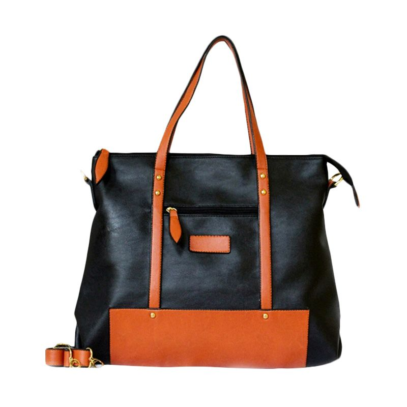 Ceviro Izzumi Shoulder Bag Hitam Orange Tas Selempang