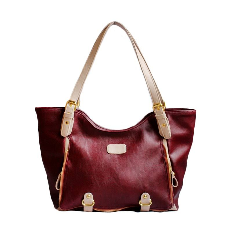Ceviro Ochi-Ai Shoulder Bag Red Wine