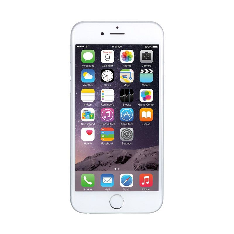 Apple iPhone 6 Plus Silver Smartphone [128GB/Garansi Resmi]