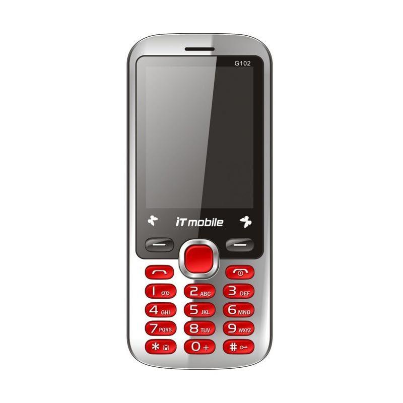 IT Mobile Duos Merah Handphone