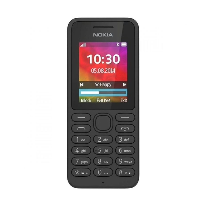 Nokia 130 Single Sim Hitam Handphone