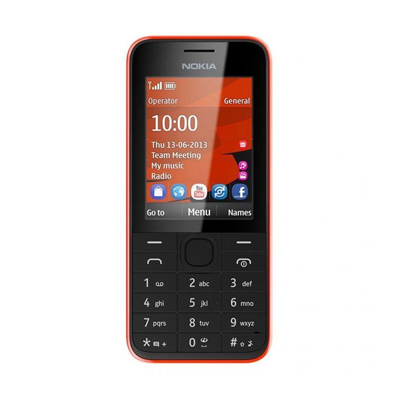 Nokia Asha 208 Merah Handphone