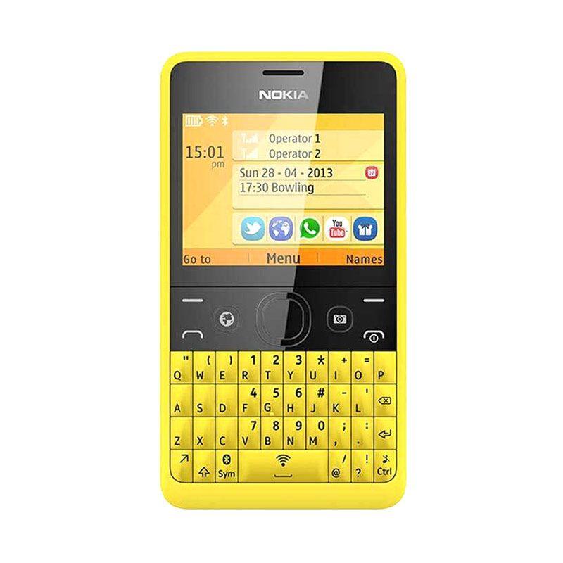 Nokia Asha 210 Kuning Handphone