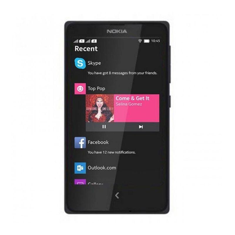 Nokia X Dual Sim Hitam Smartphone [4 GB]