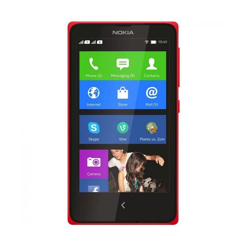 Nokia X Dual Sim Merah Smartphone [4 GB]