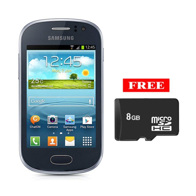 Samsung Galaxy Fame S6810 Biru Smartphone