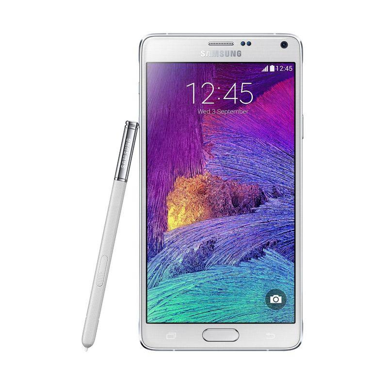 Samsung Galaxy Note 4 SM-N910H Putih Smartphone [32 GB]