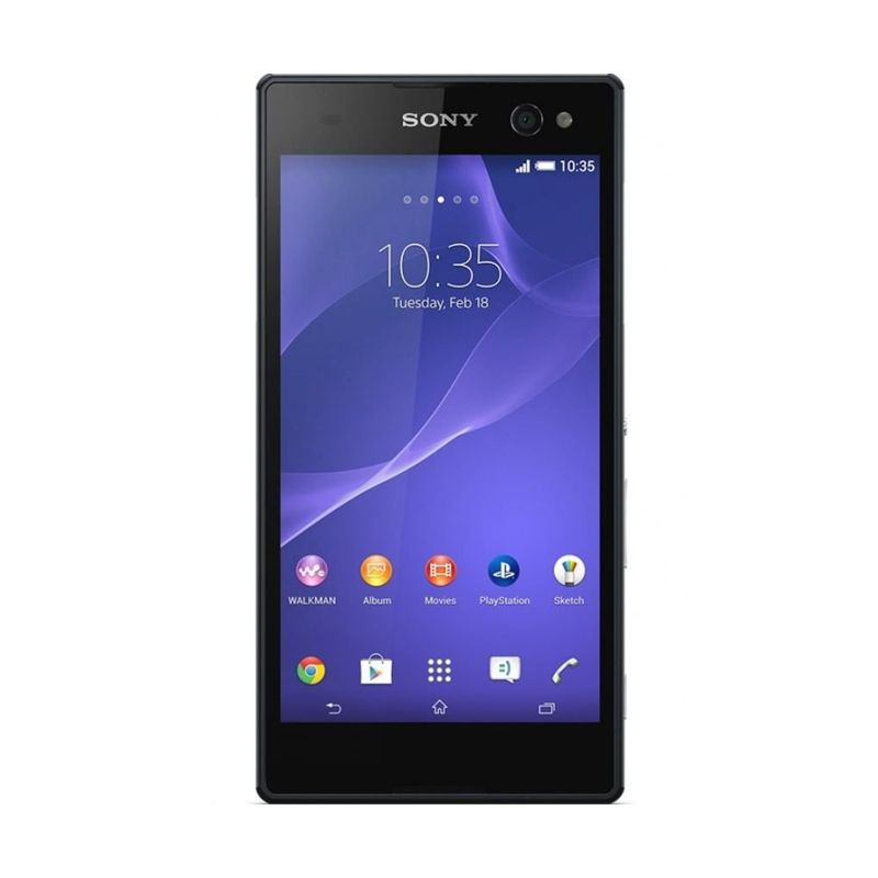 Sony Xperia C3 Single Sim Hitam Smartphone [8 GB]