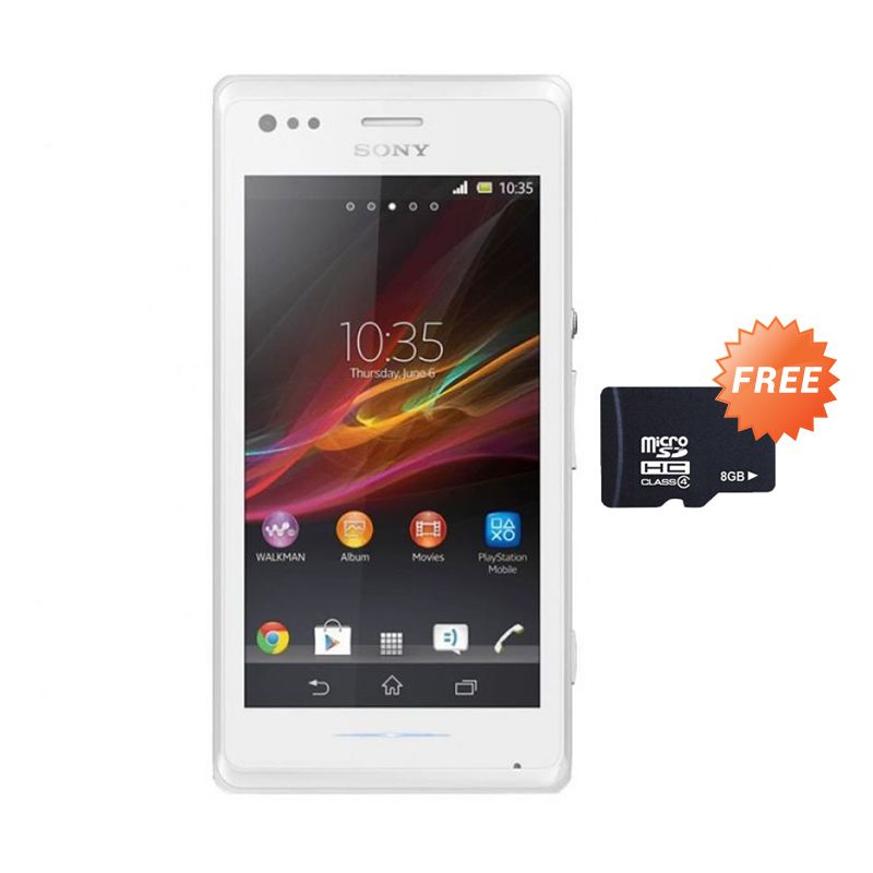 Sony Xperia M C1905 Putih Smartphone