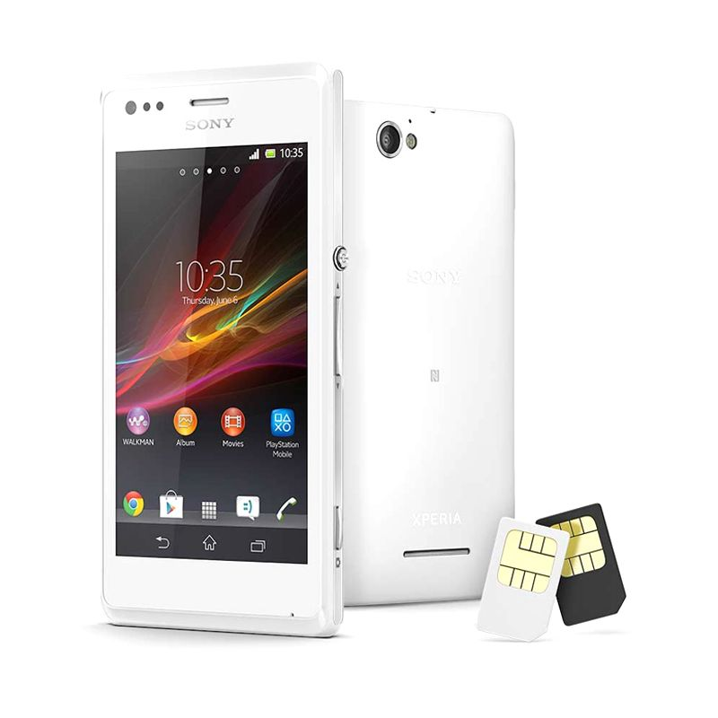 Sony Xperia M C2005 Putih Smartphone [Dual Sim Card]