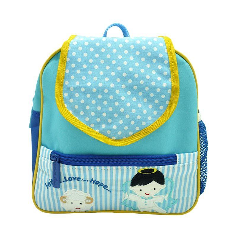 Char & Coll Tiny Angel Boy Biru Tas Sekolah Anak
