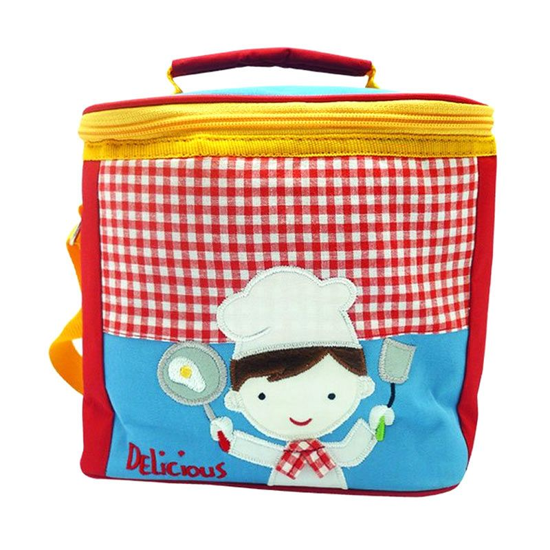 Char & Coll Square Chef Boy Merah Lunch Bag