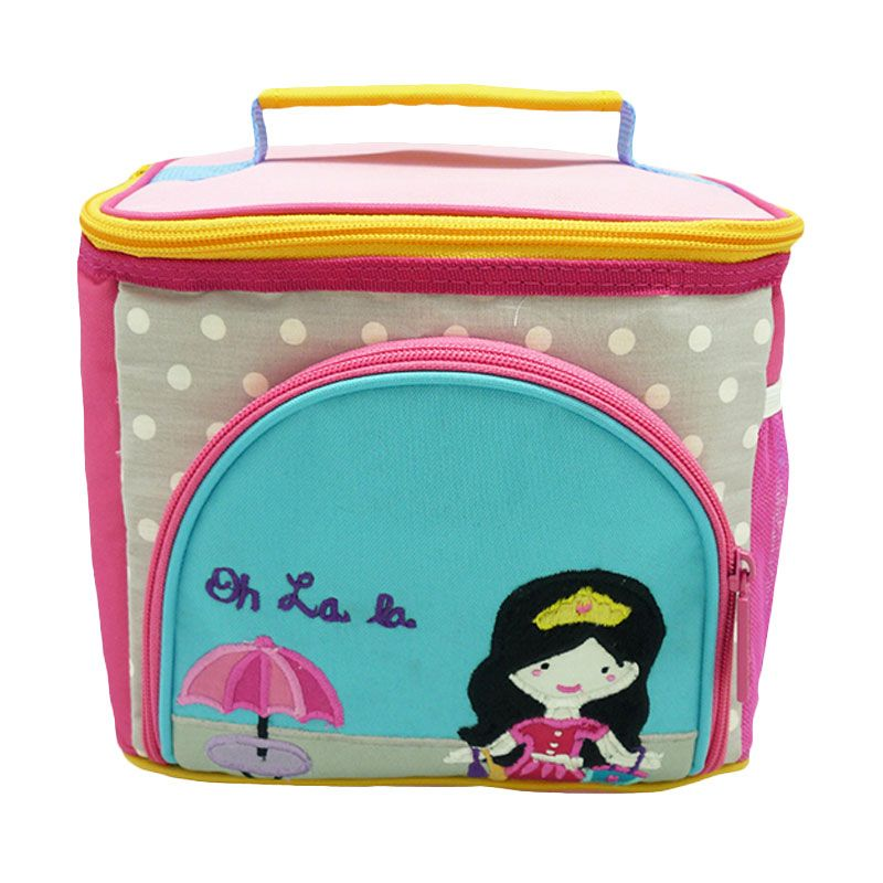 Char & Coll Lunch Bag Terry - Bonjour Amelia Pink Tas Makan