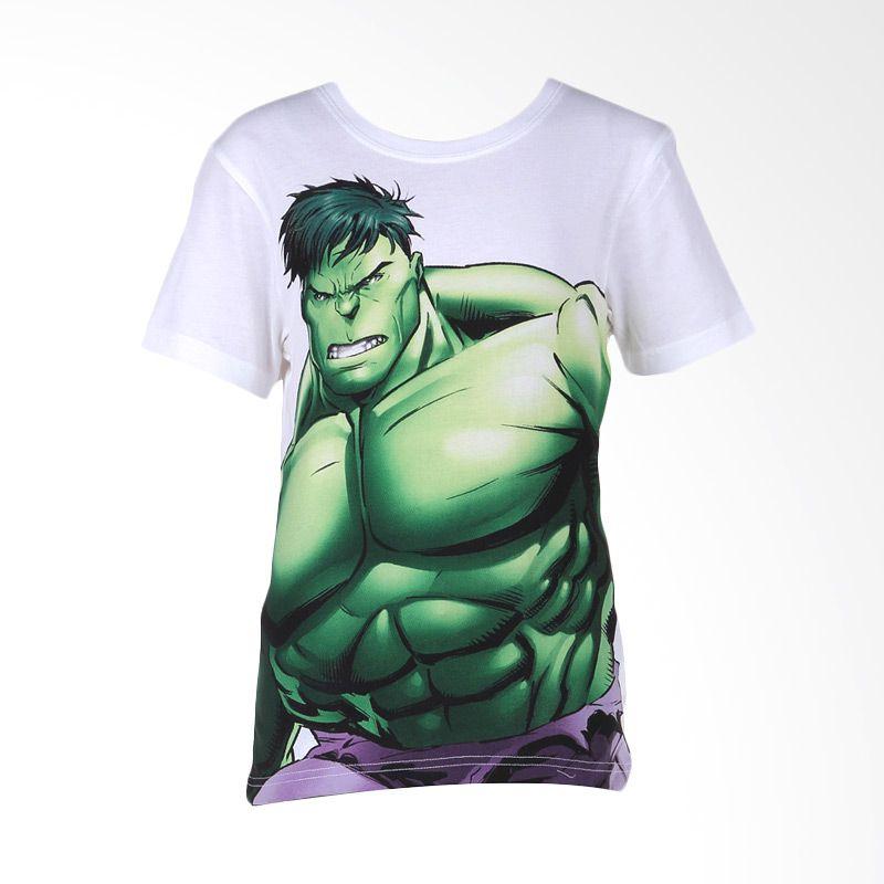 Avengers Hulk White Atasan Anak