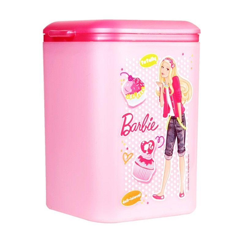 Barbie Square Trash Bin MBB21 Pink Tempat Sampah [2.65 L]