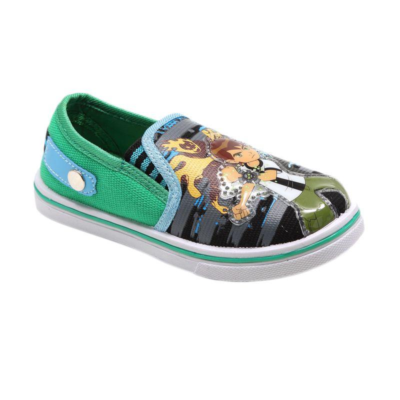 BEN 10 CVS Green Sepatu Anak Laki-Laki