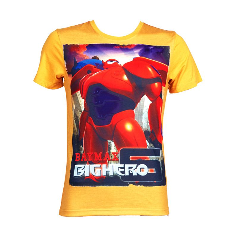 Big Hero 6 T-Shirt Boys Yellow Atasan Anak Laki-Laki
