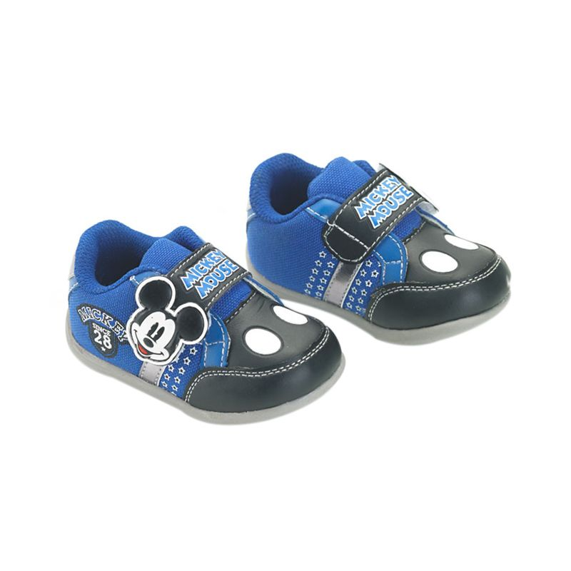 Disney Baby Magic Mickey Mouse Blue Grey Sepatu Bayi