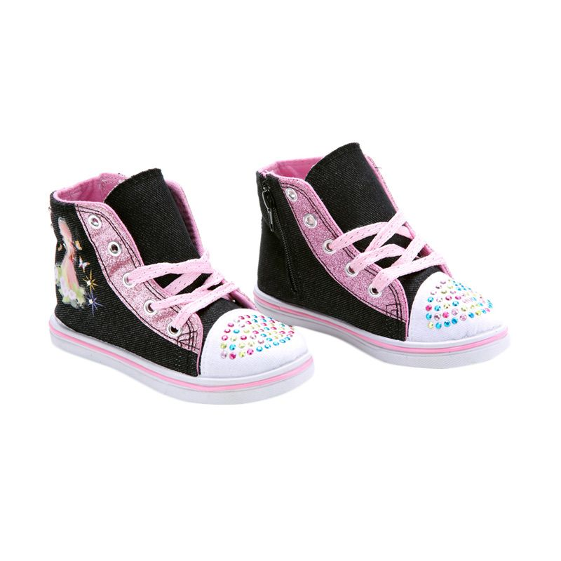 Disney Canvas Denim Strawberry Shortcake Black Sepatu Anak
