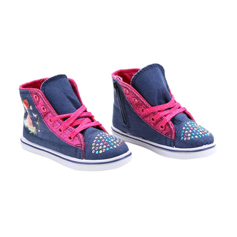 Disney Canvas Denim Strawberry Shortcake Blue Sepatu Anak