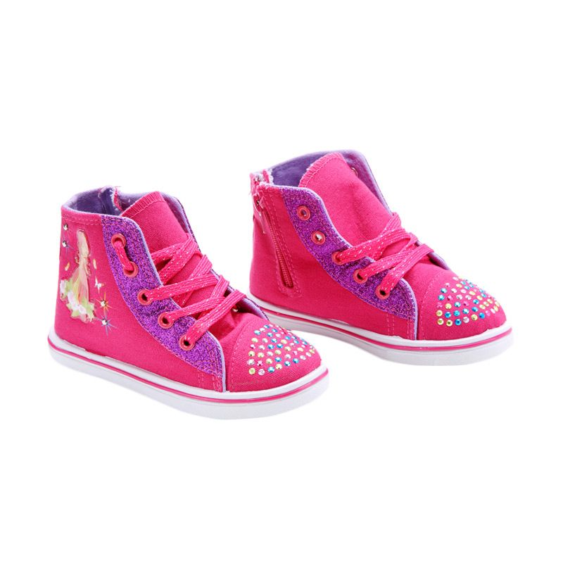 Disney Canvas Denim Strawberry Shortcake Fuchsia Sepatu Anak