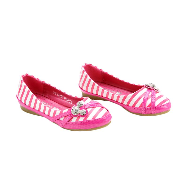 Disney Flat Minnie Mouse Fuchsia Sepatu Anak