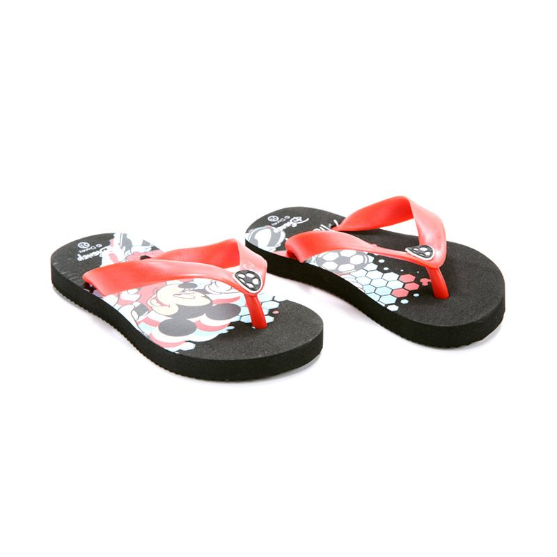 Disney Mickey Mouse Black Sandal Anak