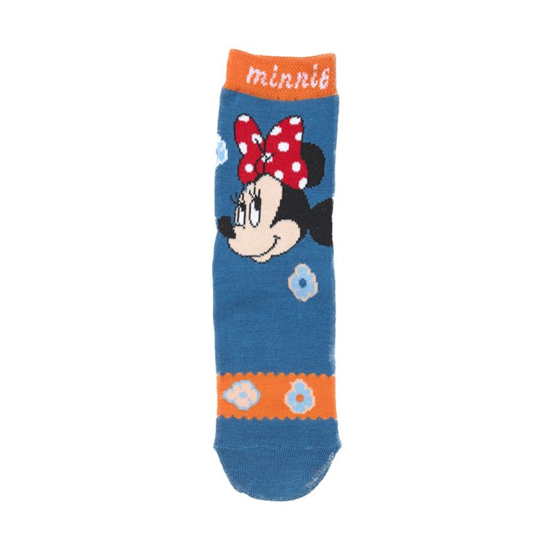 Disney Minnie Mouse Flower Blue Kaos Kaki