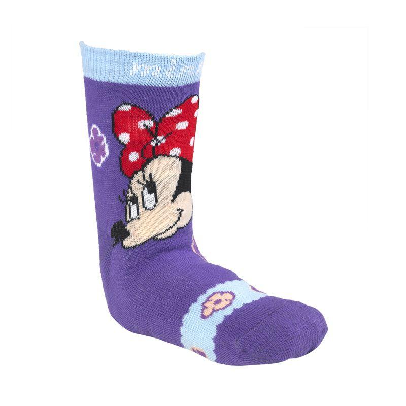 Disney Minnie Mouse Flower Purple Kaos Kaki
