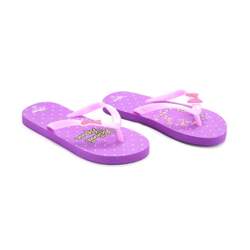Disney Minnie Mouse Purple Sandal Anak