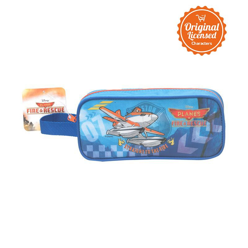 Disney Planes Fire and Rescue Pencil Case Single with Pocket Tempat Pensil