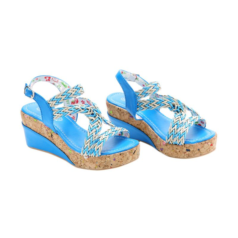 Disney Wedges Strawberry Shortcake Blue Sepatu Anak