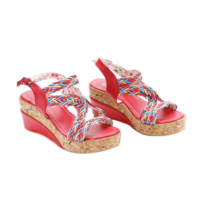 Disney Wedges Strawberry Shortcake Red Sepatu Anak