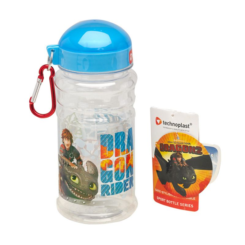 DreamWorks How To Train Your Dragon Sport Clear Botol Minum [500 mL]