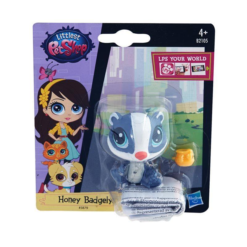 Littlest Pet Shop Badger Purple Mainan Anak