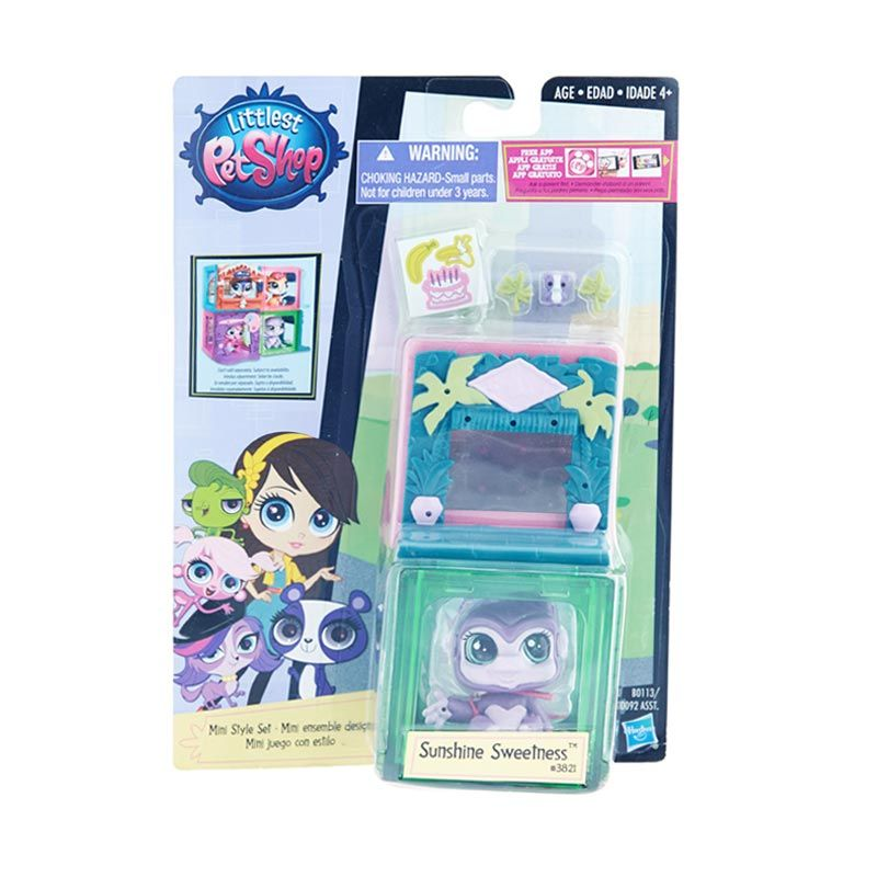 Littlest Pet Shop Mini Style Set Gorila Purple Mainan Anak