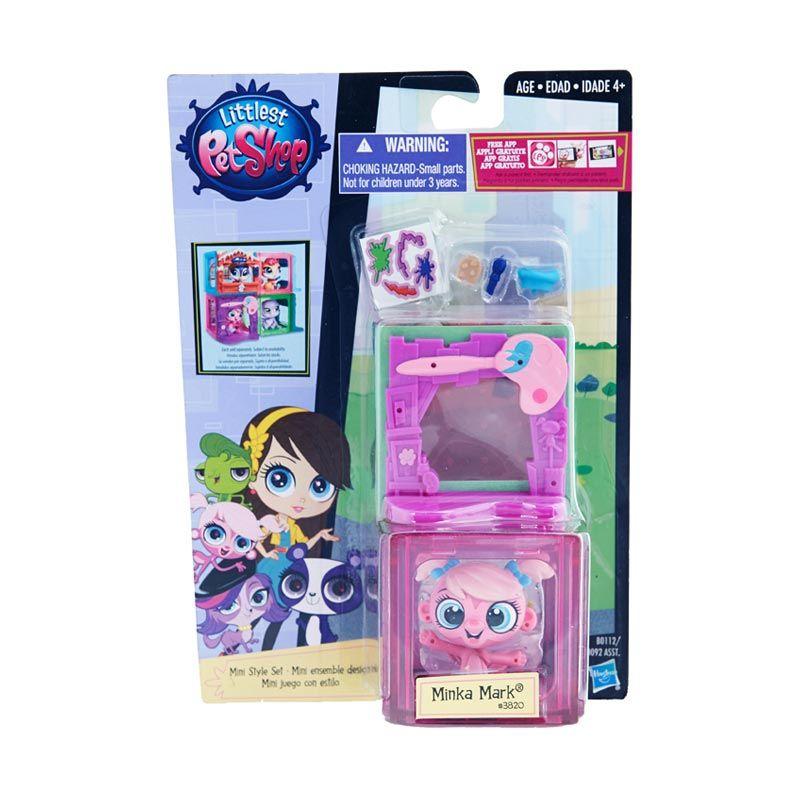 Littlest Pet Shop Mini Style Set Minka Purple Mainan Anak