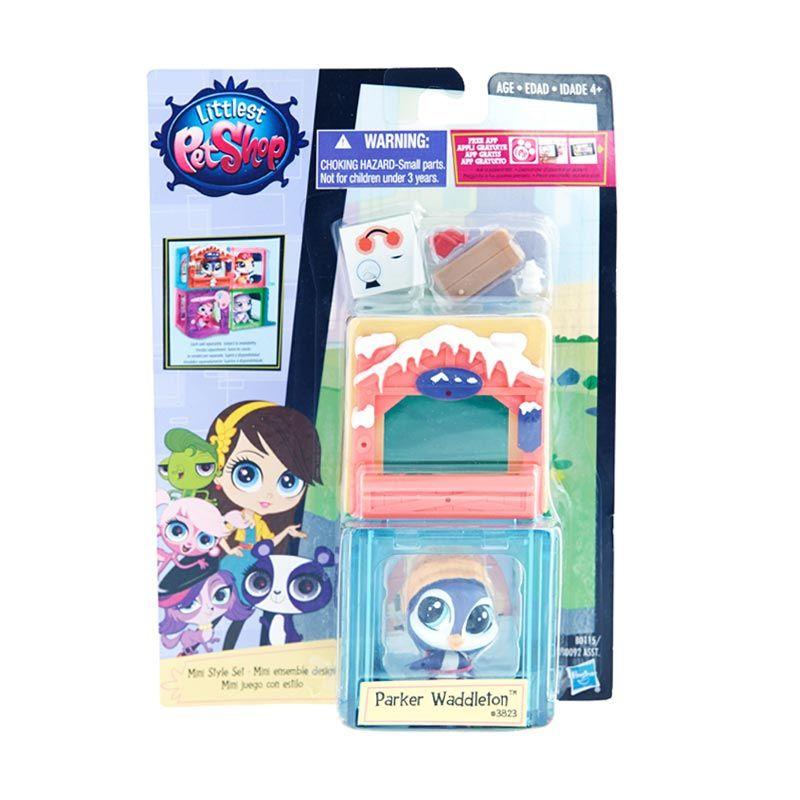 Littlest Pet Shop Mini Style Set Penguin Purple Mainan Anak