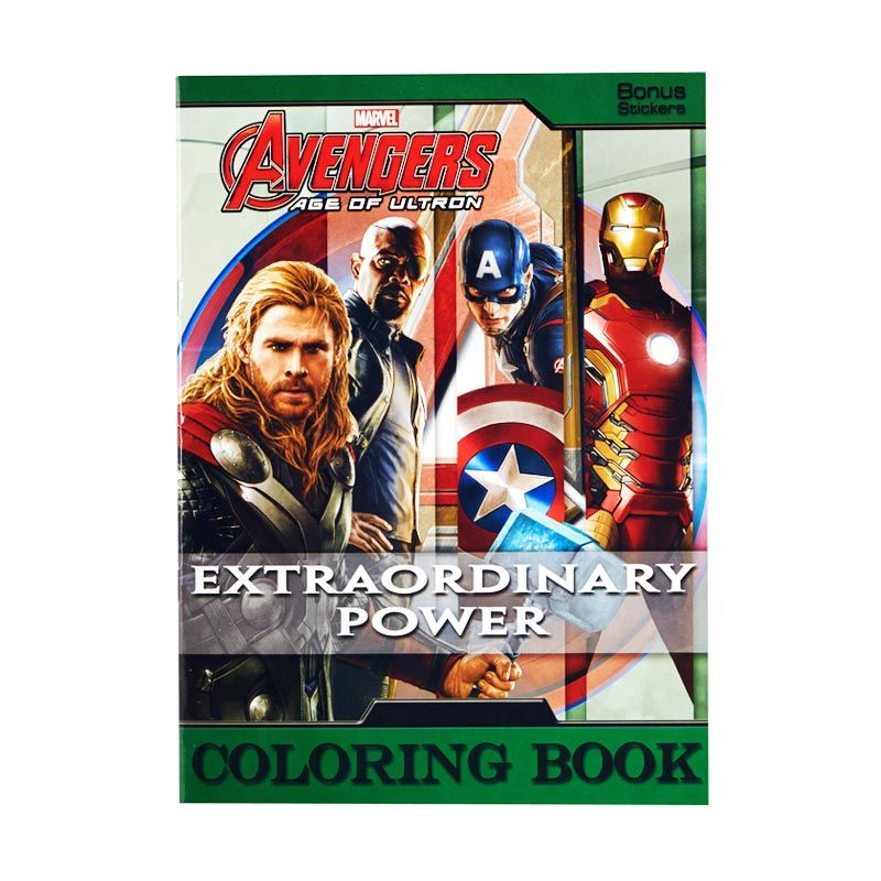 Marvel Avengers Age Of Ultron Extraordinary Power Buku Mewarnai