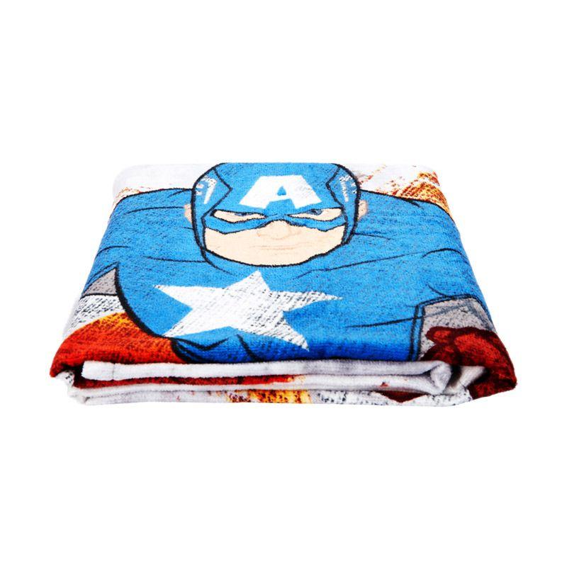 Marvel Captain America Attacking Bath Abu-Abu Handuk