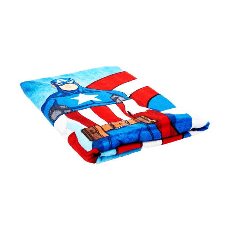 Marvel Captain America Super Soldier Bath Biru Handuk