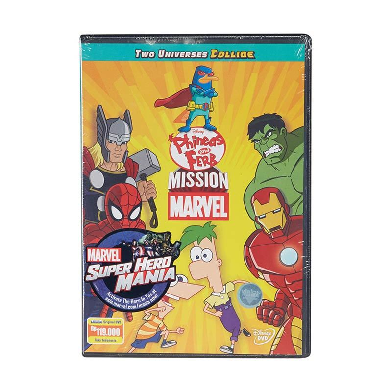 Marvel DVD Phineas & Ferb Mission Film Anak