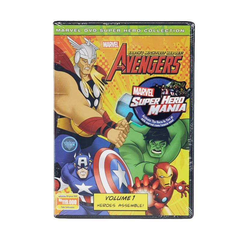 Marvel DVD The Avengers Earth's Mightiest Heroes Vol.1 Film Anak