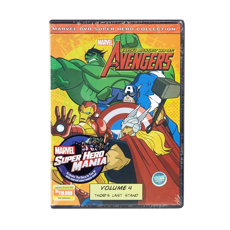 Marvel DVD The Avengers Earth's Mightiest Heroes Vol.4 Film Anak