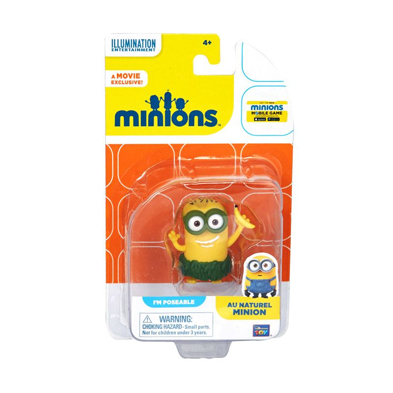 Minions Au Naturel Action Figure Articulated Yellow Mainan Anak