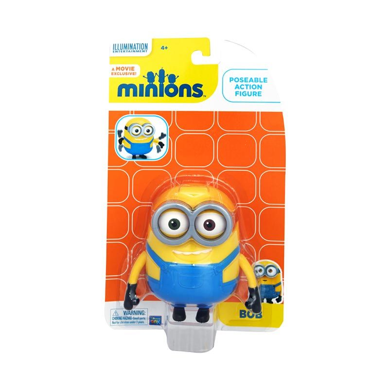 Minions Bob Action Figure Articulated Yellow Mainan Anak
