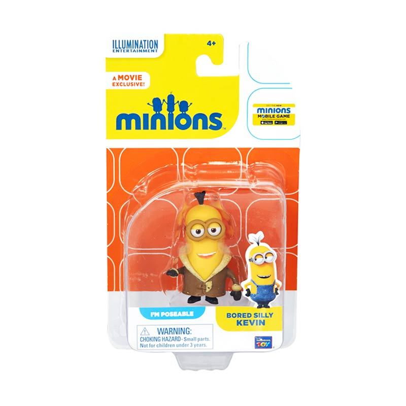 Minions Bored Silly Kevin Action Figure Articulated Yellow Mainan Anak