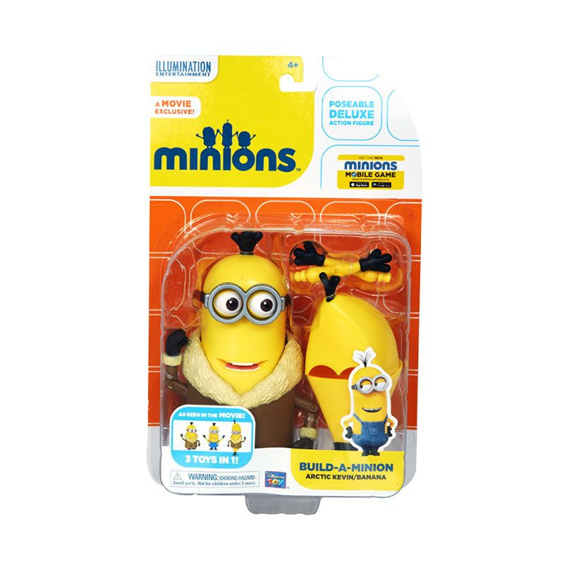 Minions Build-A- Arctic Kevin Banana Yellow Mainan Anak